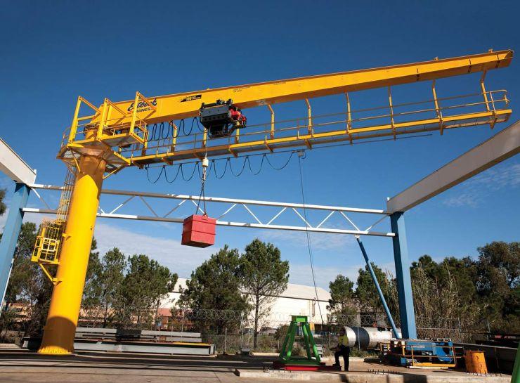 Wheatstone LNG Tank Jib Cranes under load testing